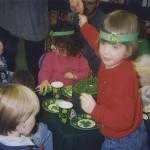 Children enjoying St Patrick day treats