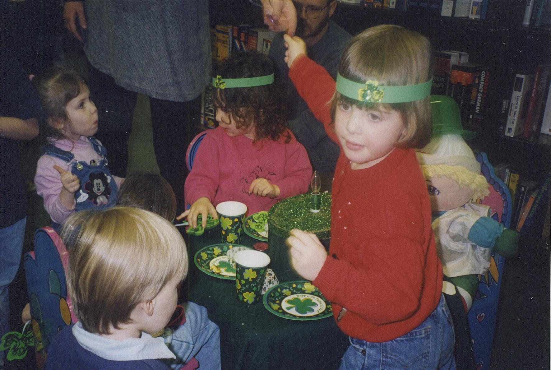 Children enjoying St Patrick day treats