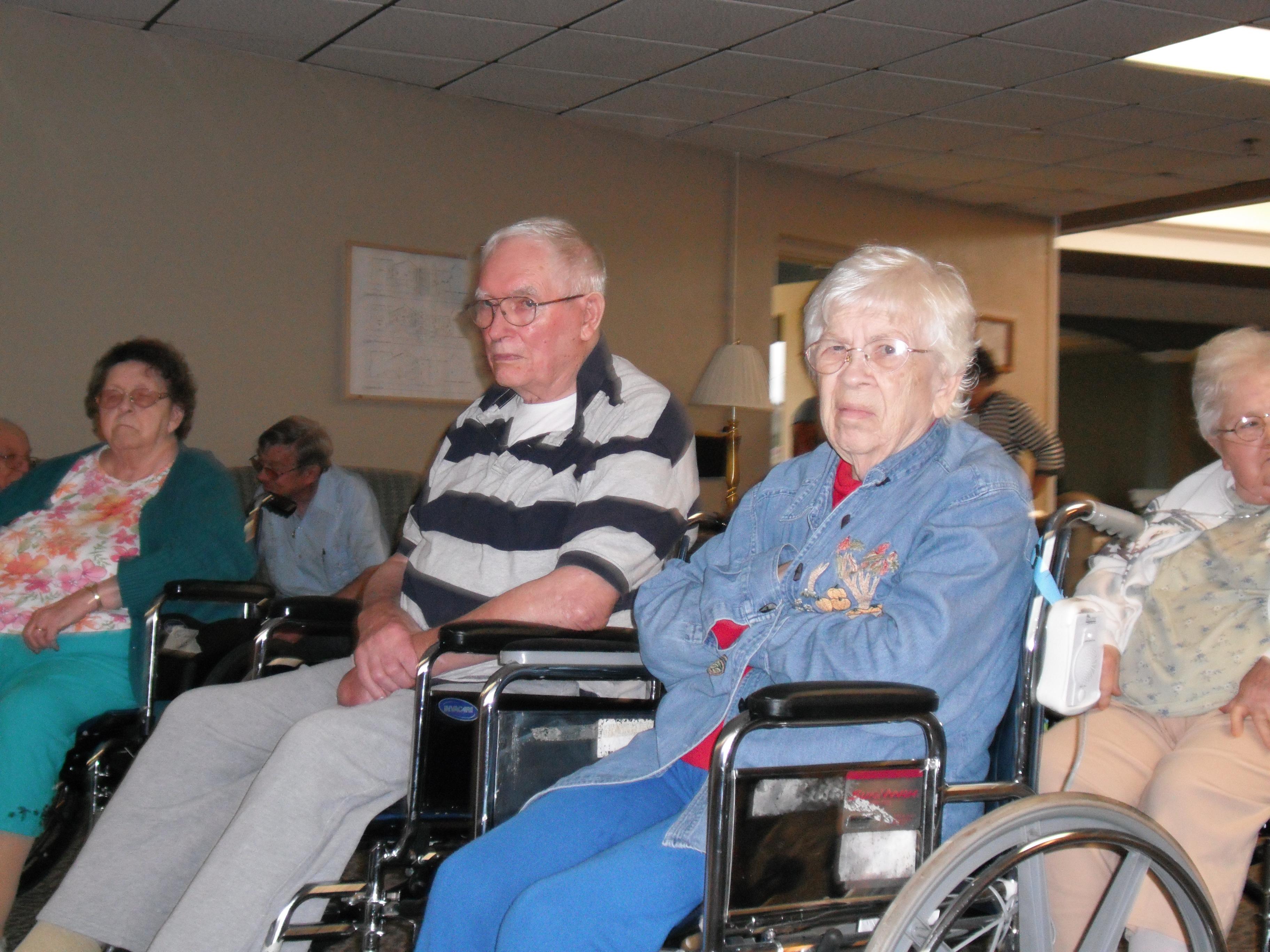 Nursing home audience members