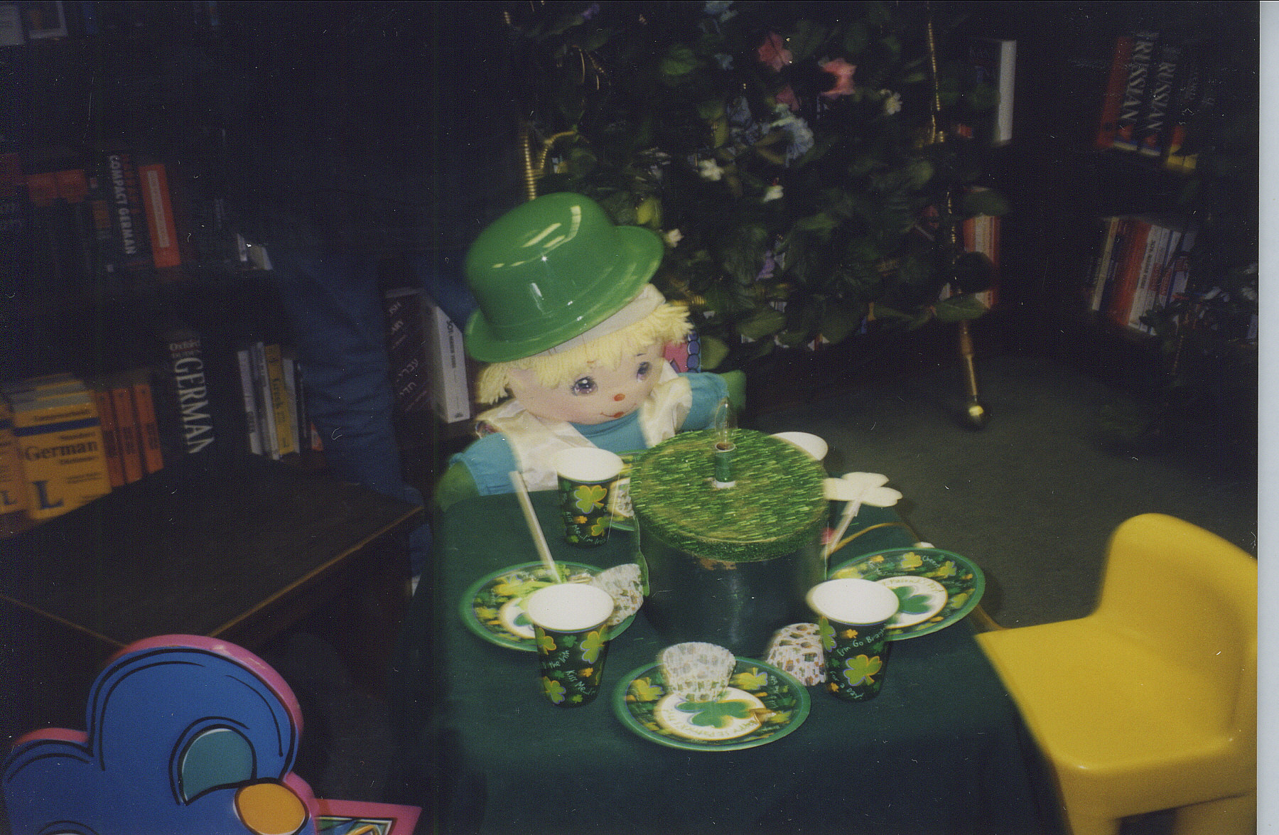 Emeray at St Patrick day table..