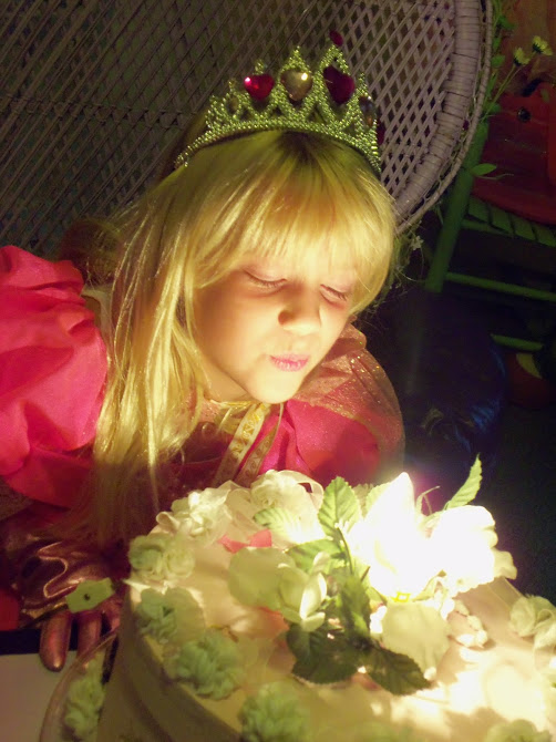 """""""Sarah, close your eyes, make a wish and then count to three, then your candle will blow out just you wait and see!"""""""